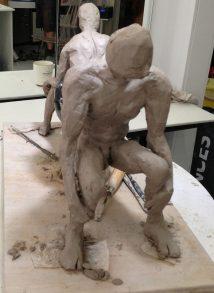 FIGUREWORK 6 - WIP - Clay, carborundum - 2011